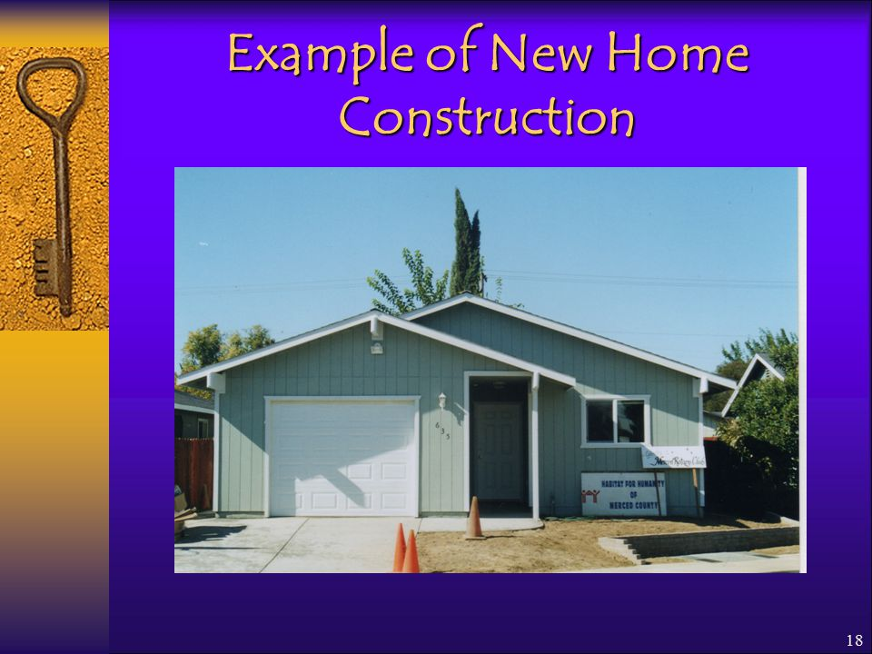 18 Example of New Home Construction