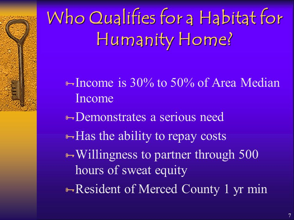 7 Who Qualifies for a Habitat for Humanity Home.