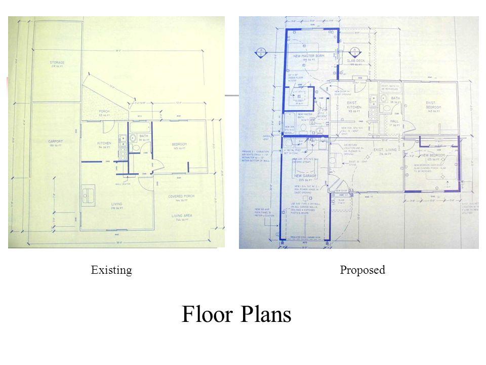 ExistingProposed Floor Plans