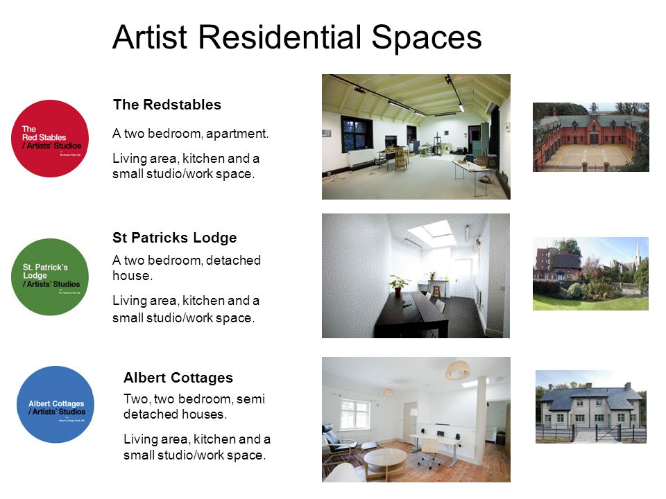 Artist Residential Spaces A two bedroom, detached house.