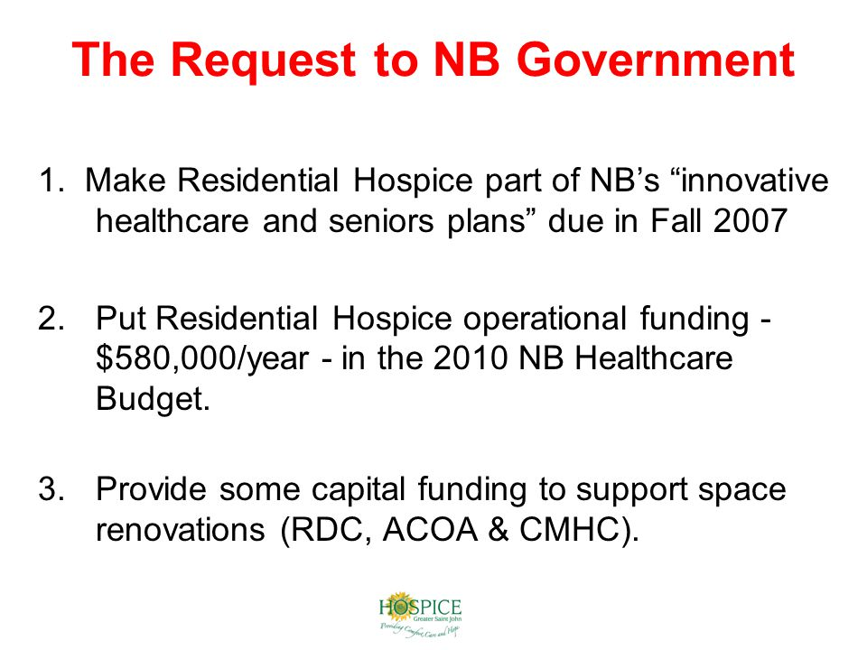 The Request to NB Government 1.