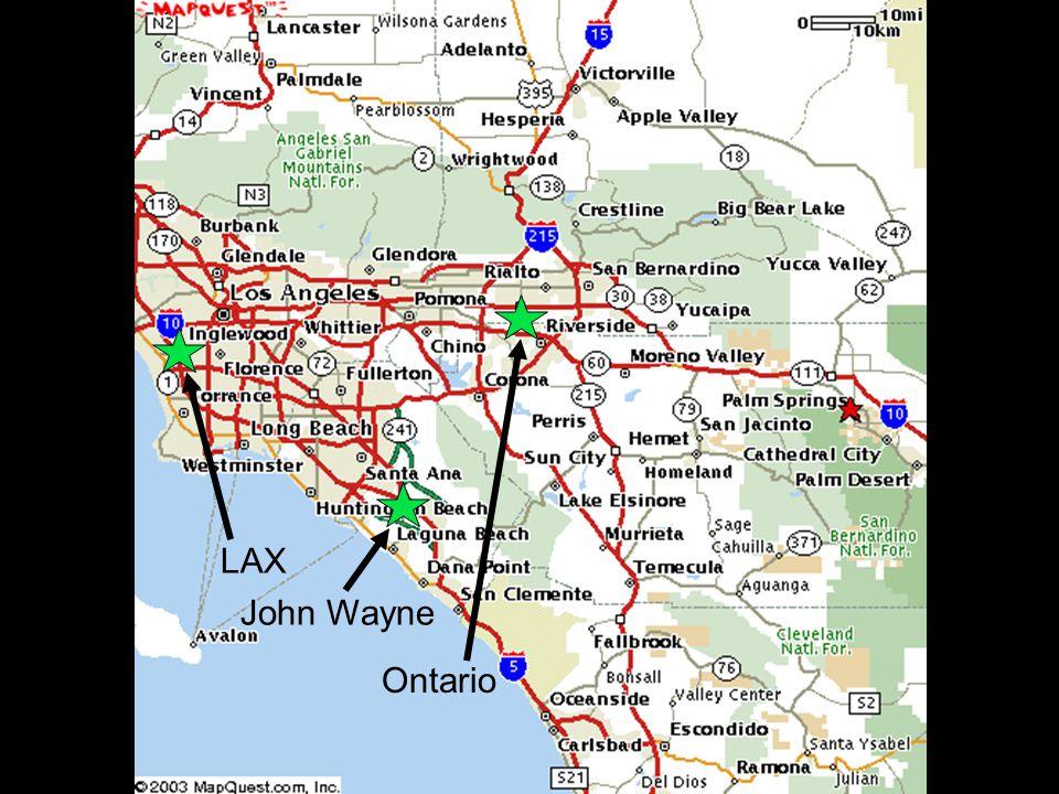 LAX Ontario John Wayne