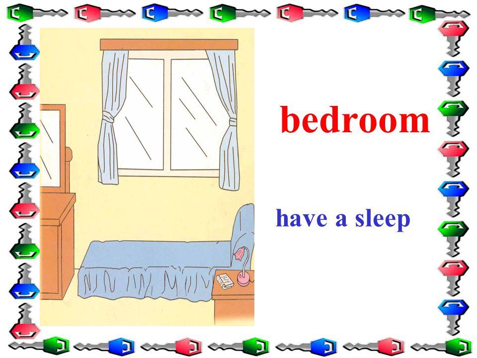 bedroom have a sleep