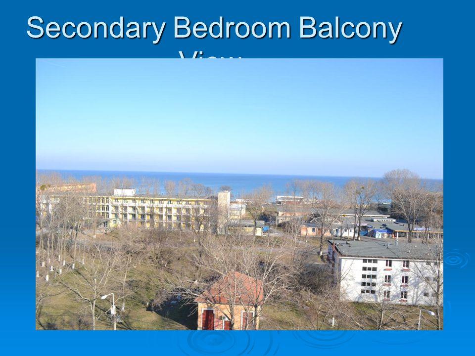 Secondary Bedroom Balcony View :