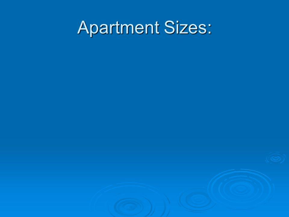 Apartment Sizes: