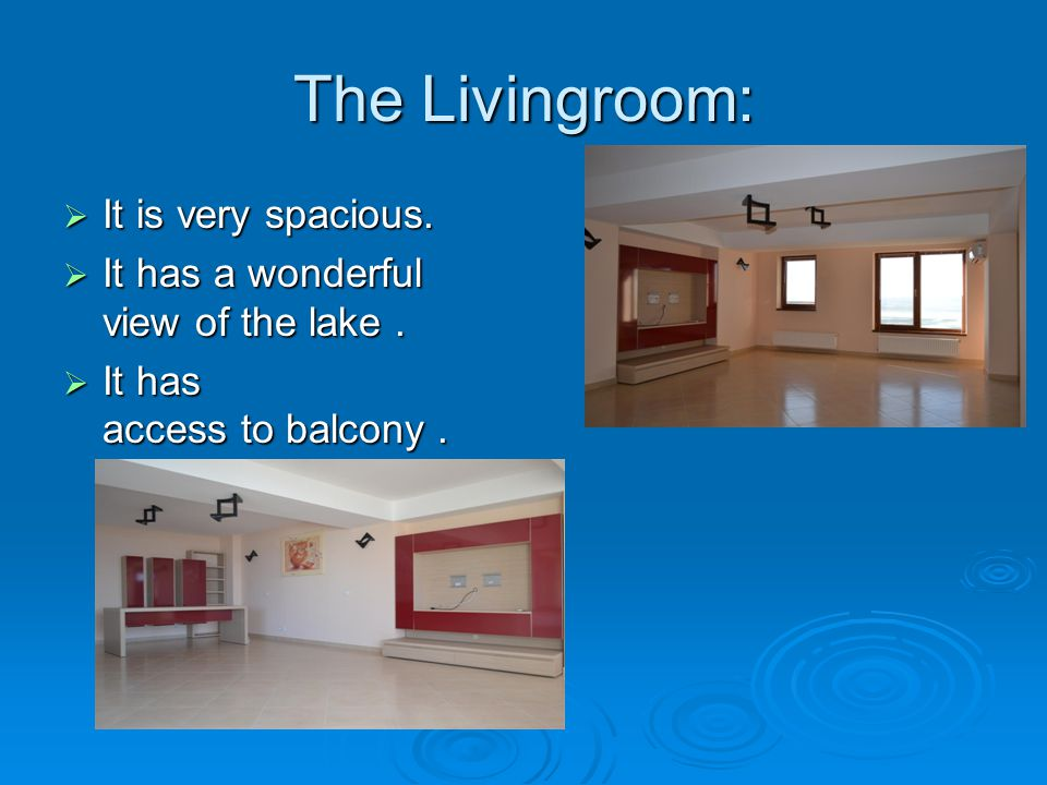 The Dressingroom: The Dressingroom:  Is verry spacious  Is verry useful  Furnished to an excellent storage conditions.
