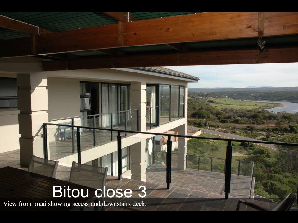 View from braai showing access and downstairs deck. Bitou close 3