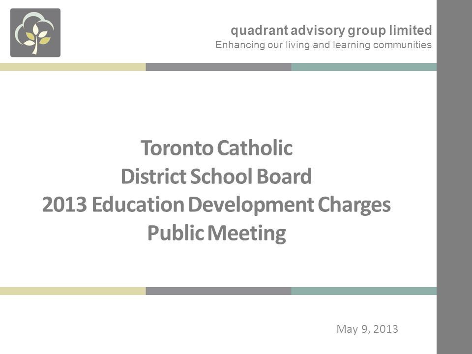 EDC Calculation - Proposed 2013 quadrant advisory group limited 12
