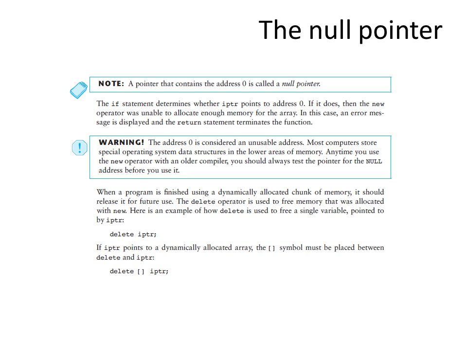 The null pointer