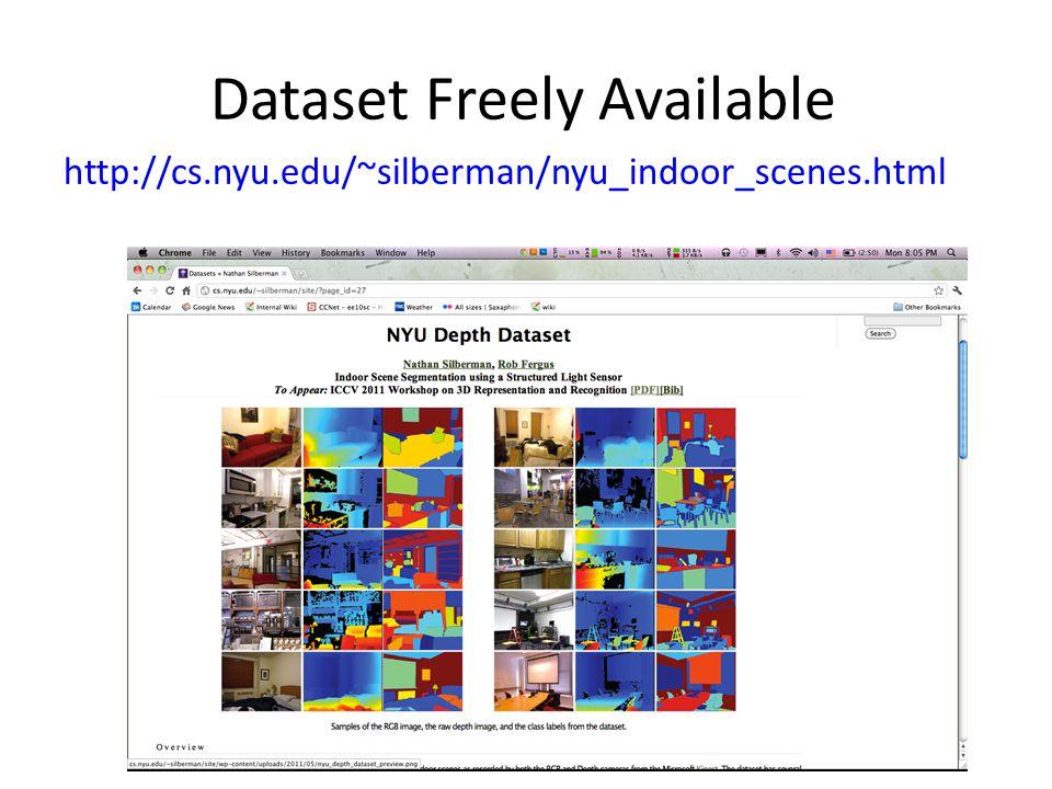 Dataset Freely Available http://cs.nyu.edu/~silberman/nyu_indoor_scenes.html