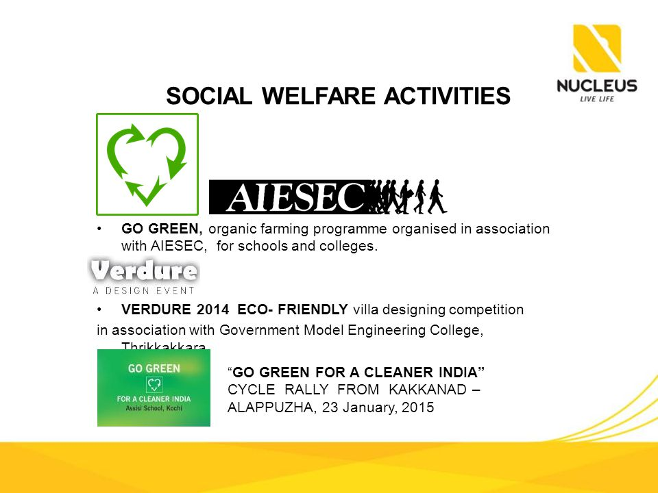 GO GREEN, organic farming programme organised in association with AIESEC, for schools and colleges.