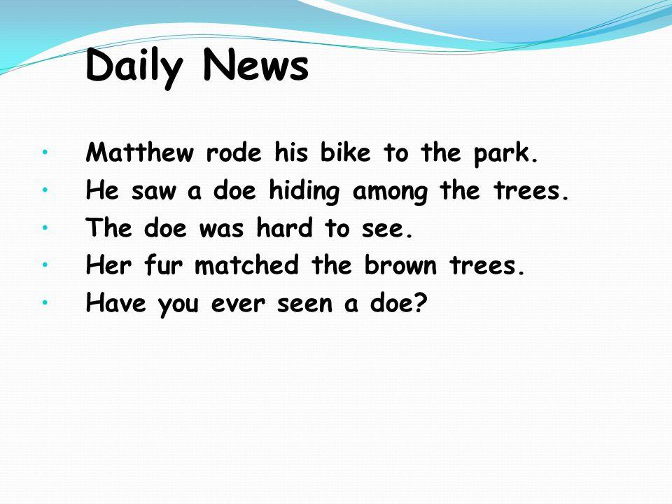 Daily News Hoot, said the owl.