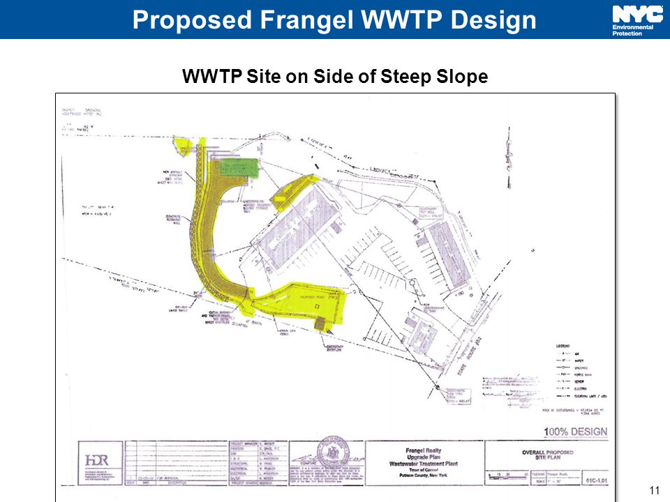 11 Proposed Frangel WWTP Design WWTP Site on Side of Steep Slope