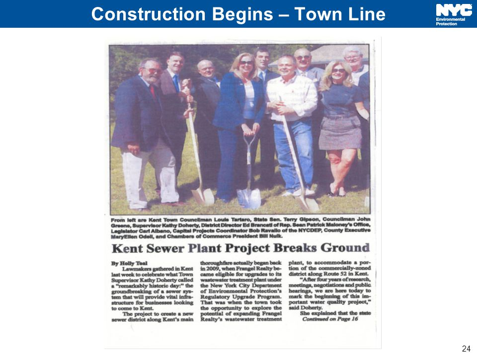 24 Construction Begins – Town Line