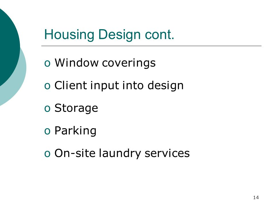 14 Housing Design cont.
