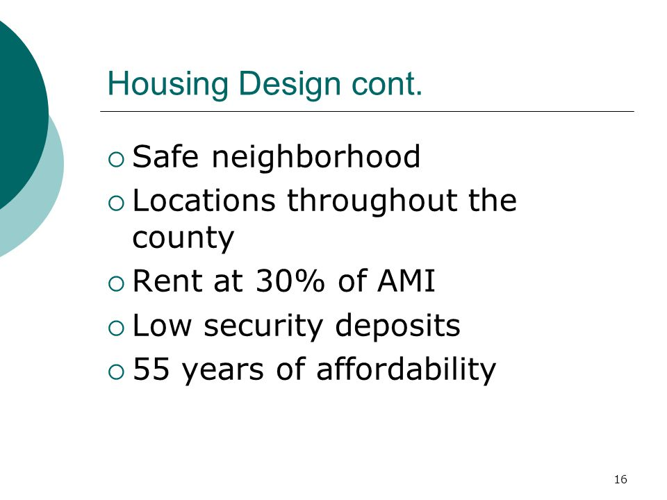 16 Housing Design cont.