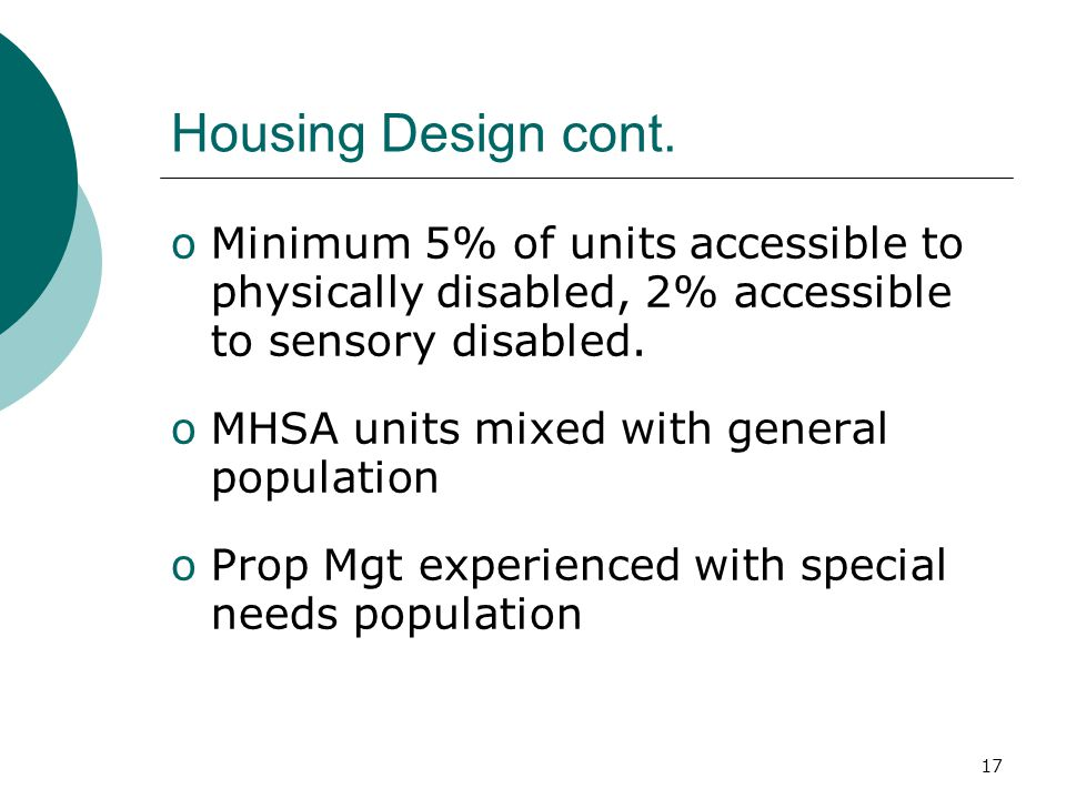 17 Housing Design cont.