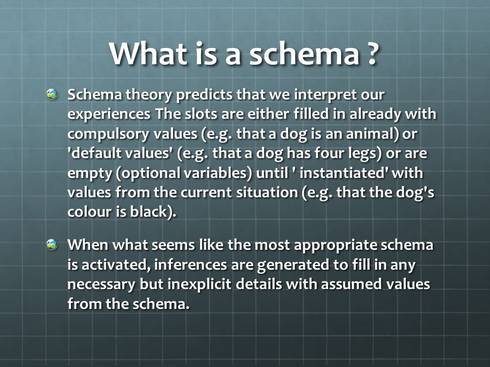 If no relevant schema is retrieved from long-term memory a new schema is created.