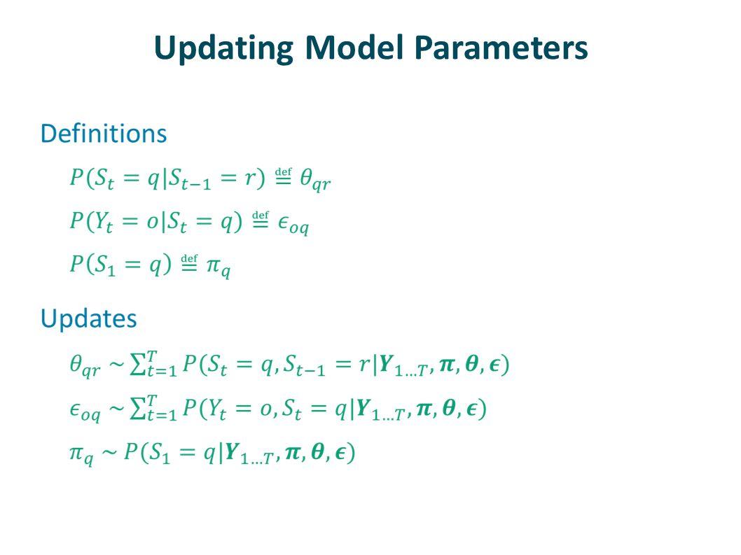 Updating Model Parameters