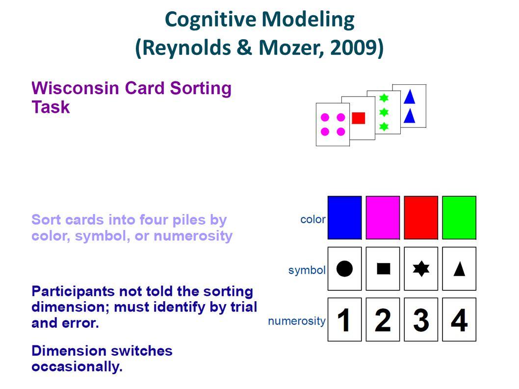 Cognitive Modeling (Reynolds & Mozer, 2009)
