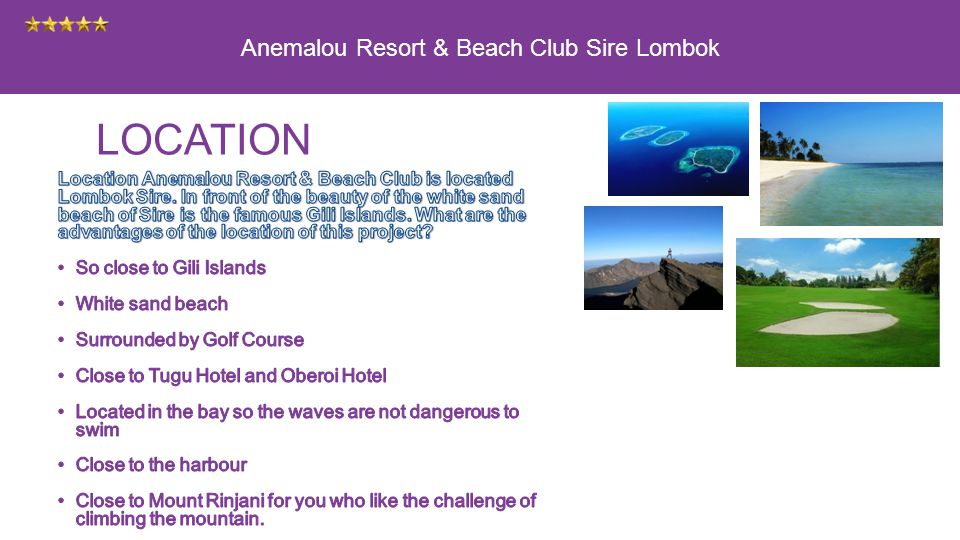 Anemalou Resort & Beach Club Sire Lombok LOCATION