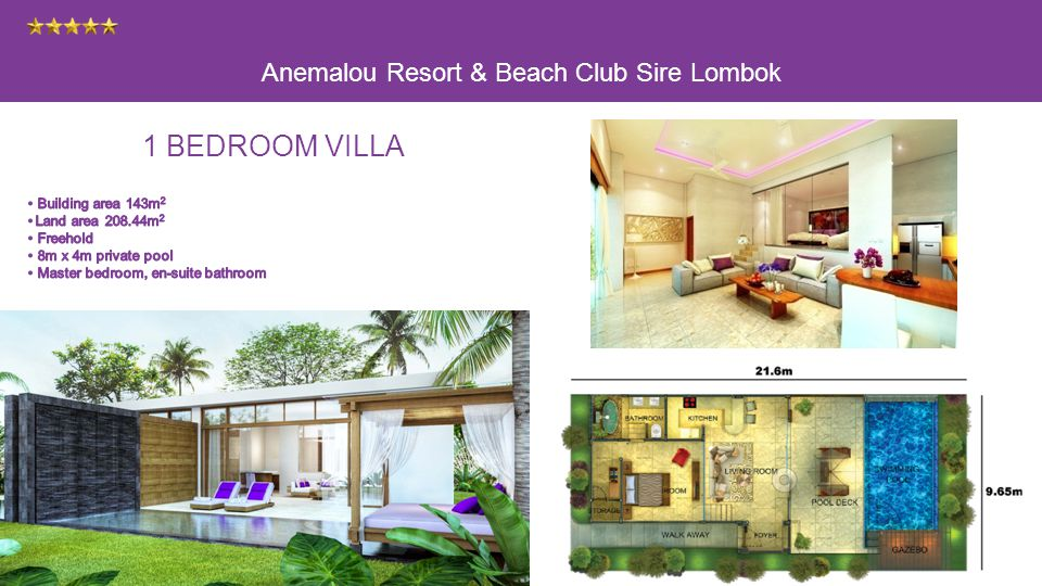 Anemalou Resort & Beach Club Sire Lombok 1 BEDROOM VILLA