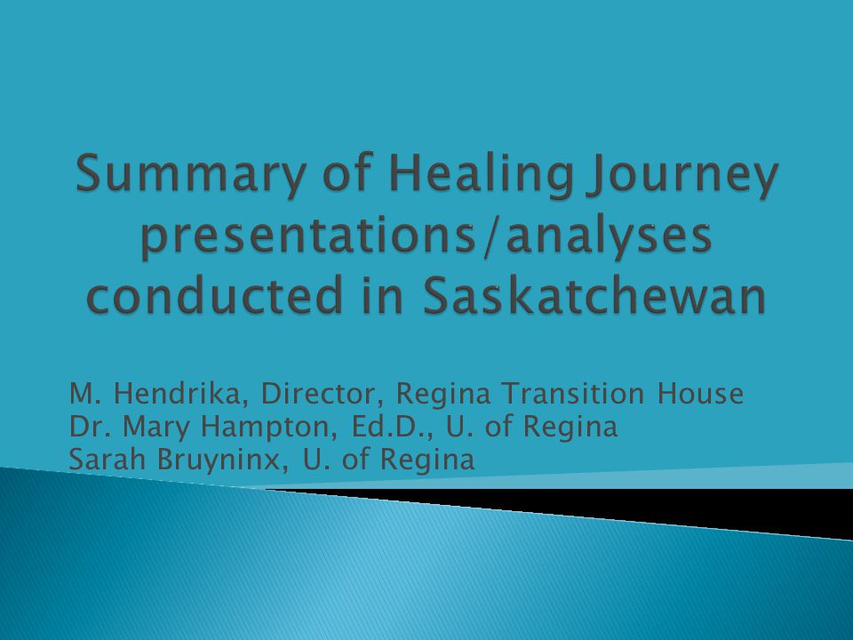  Tri-provincial study examining women's experience of IPV  7 waves of interviews at 6 month intervals examining ◦ Impact of IPV on health and parenting ◦ Utilization and satisfaction with services ◦ Detailed labour force questionnaire for cost analysis study  In-depth qualitative interviews  Funded by Social Sciences and Humanites Research Council (SSHRC) – Principal Investigator: Jane Ursel, Ph.D., University of Manitoba