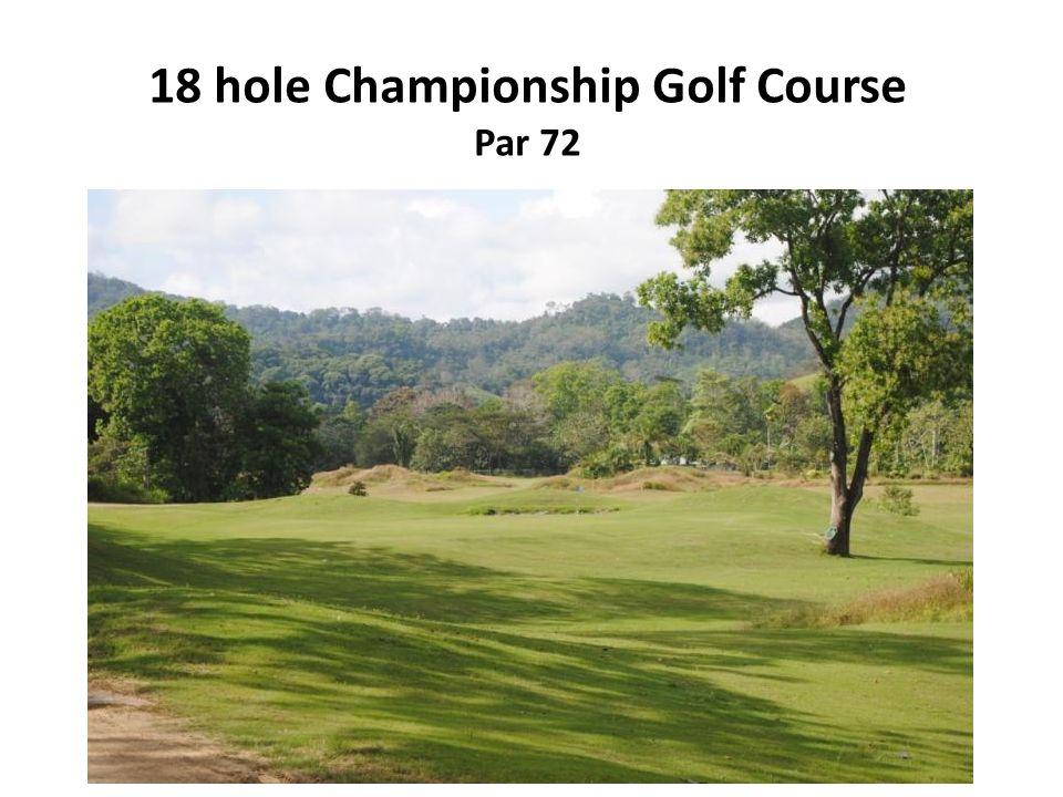 18 hole Championship Golf Course Par 72
