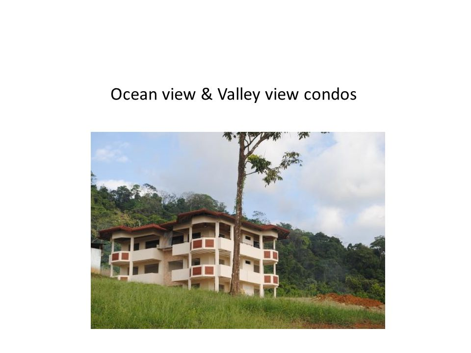 Ocean view & Valley view condos