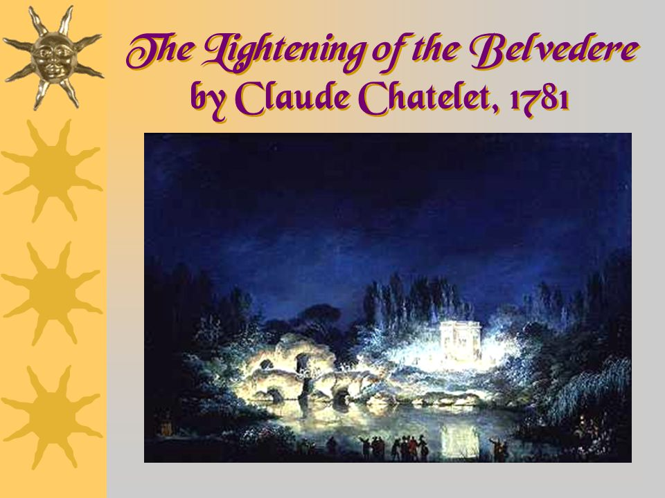 The Lightening of the Belvedere by Claude Chatelet, 1781