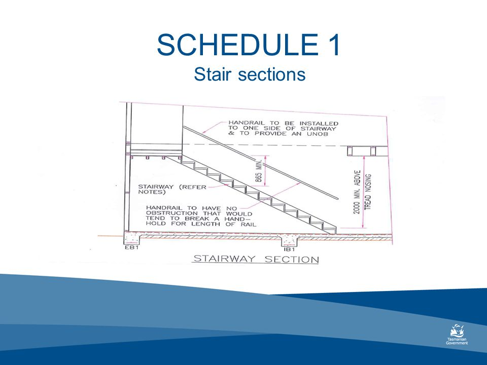 SCHEDULE 1 Stair sections