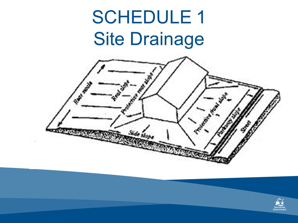 SCHEDULE 1 Site Drainage