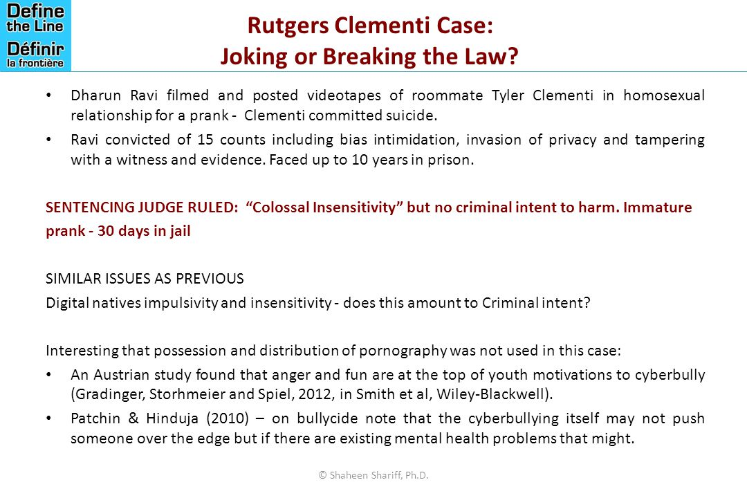 Rutgers Clementi Case: Joking or Breaking the Law.
