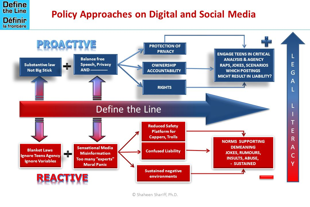 Policy Approaches on Digital and Social Media © Shaheen Shariff, Ph.D.