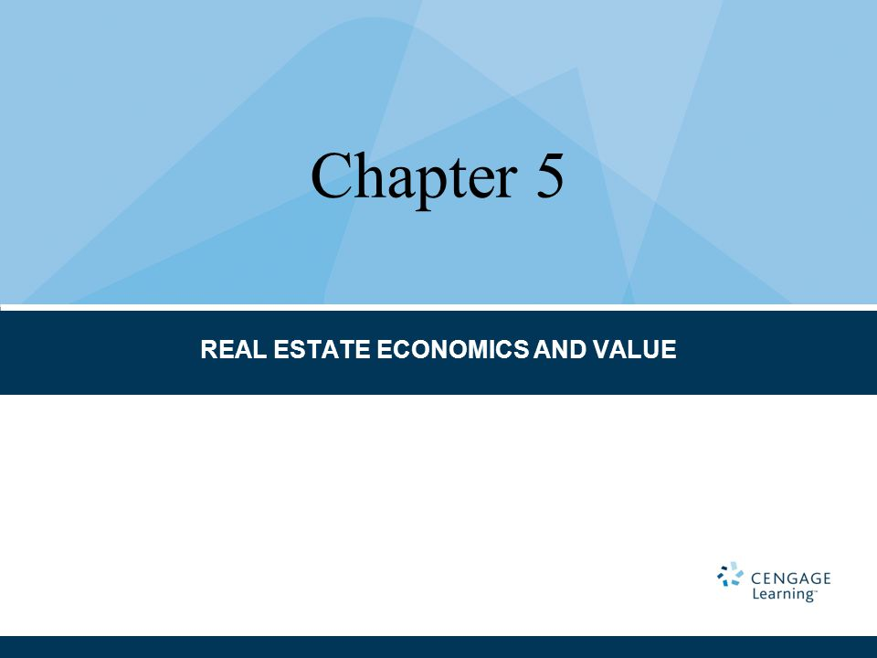 REAL ESTATE ECONOMICS AND VALUE Chapter 5