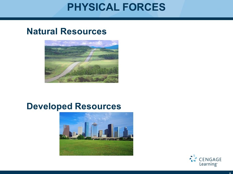 PHYSICAL FORCES Natural Resources Developed Resources 8
