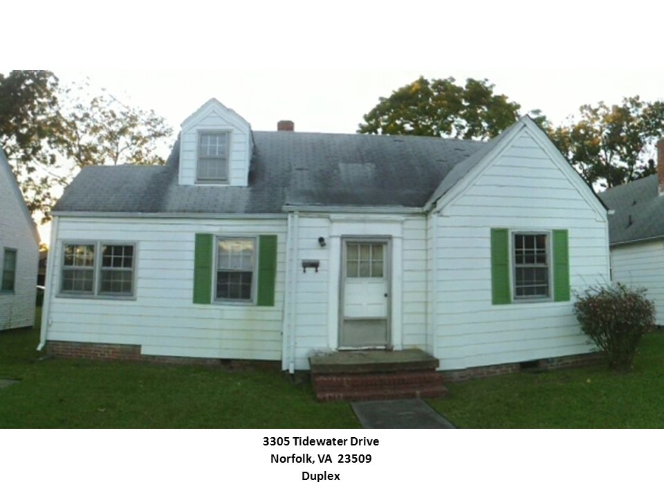 3305 Tidewater Drive Norfolk, VA 23509 Duplex