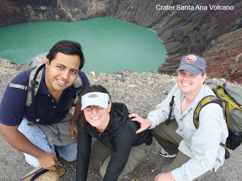 Crater Santa Ana Volcano