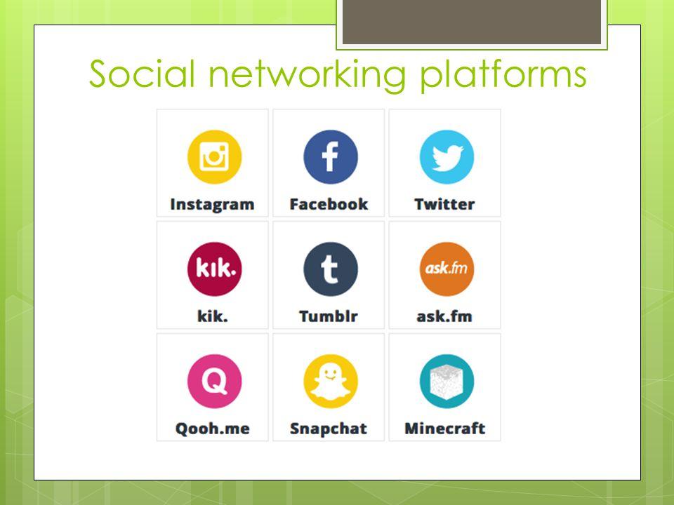 Social networking platforms
