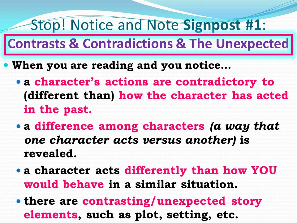 Notice & Note Signpost #5