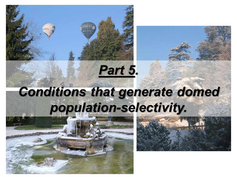 Part 5. Conditions that generate domed population-selectivity.