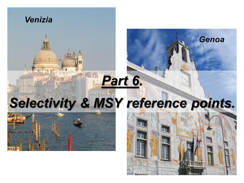 Venizia Genoa Part 6. Selectivity & MSY reference points.