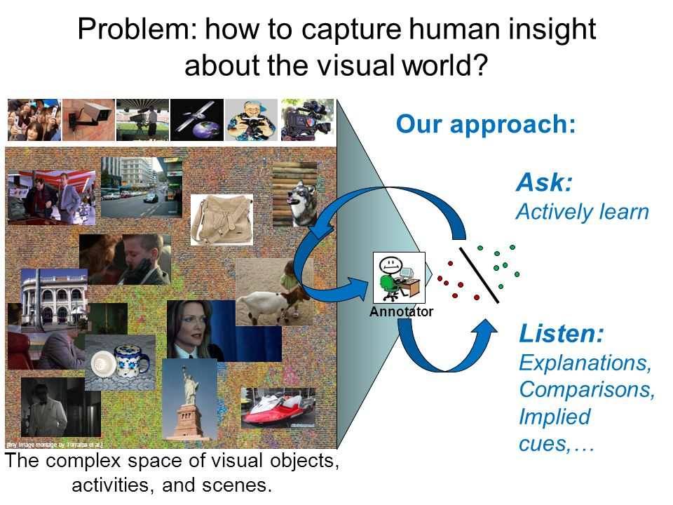 Problem: how to capture human insight about the visual world.