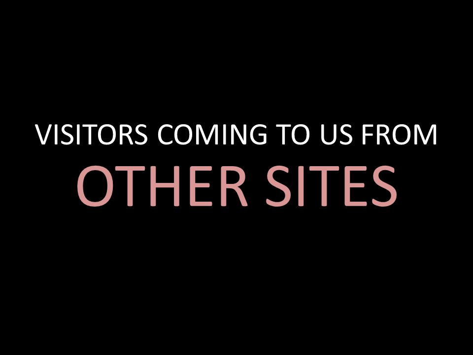 VISITORS COMING TO US FROM OTHER SITES