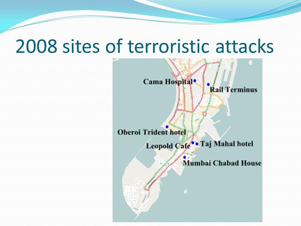 2008 sites of terroristic attacks