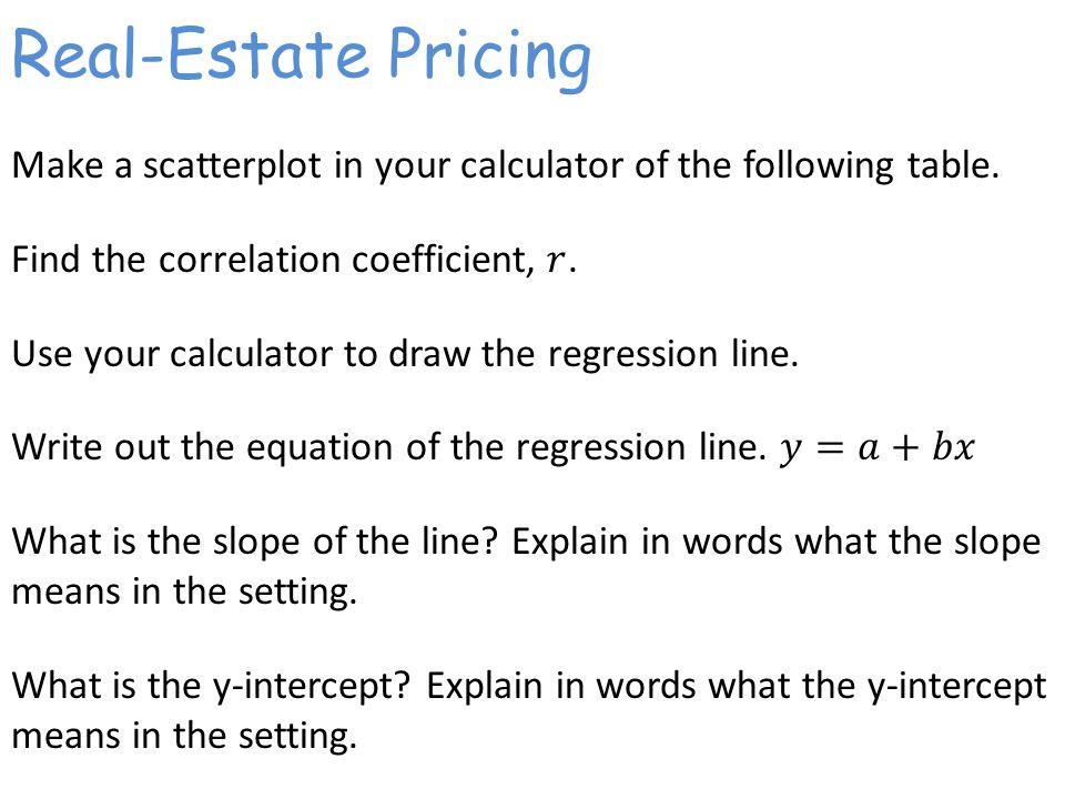 Real-Estate Pricing