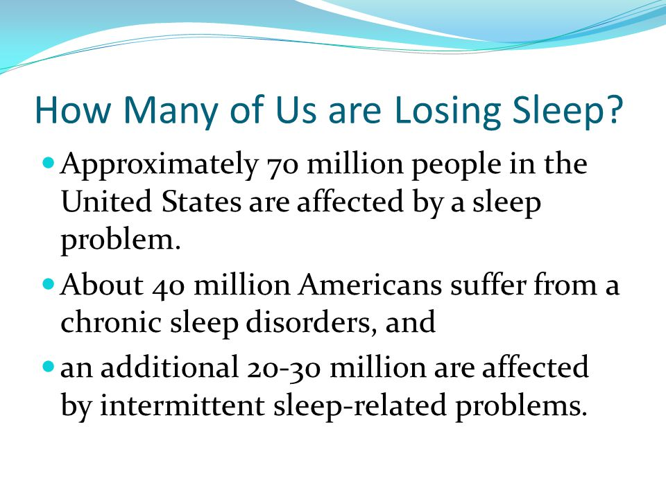 How Many of Us are Losing Sleep.