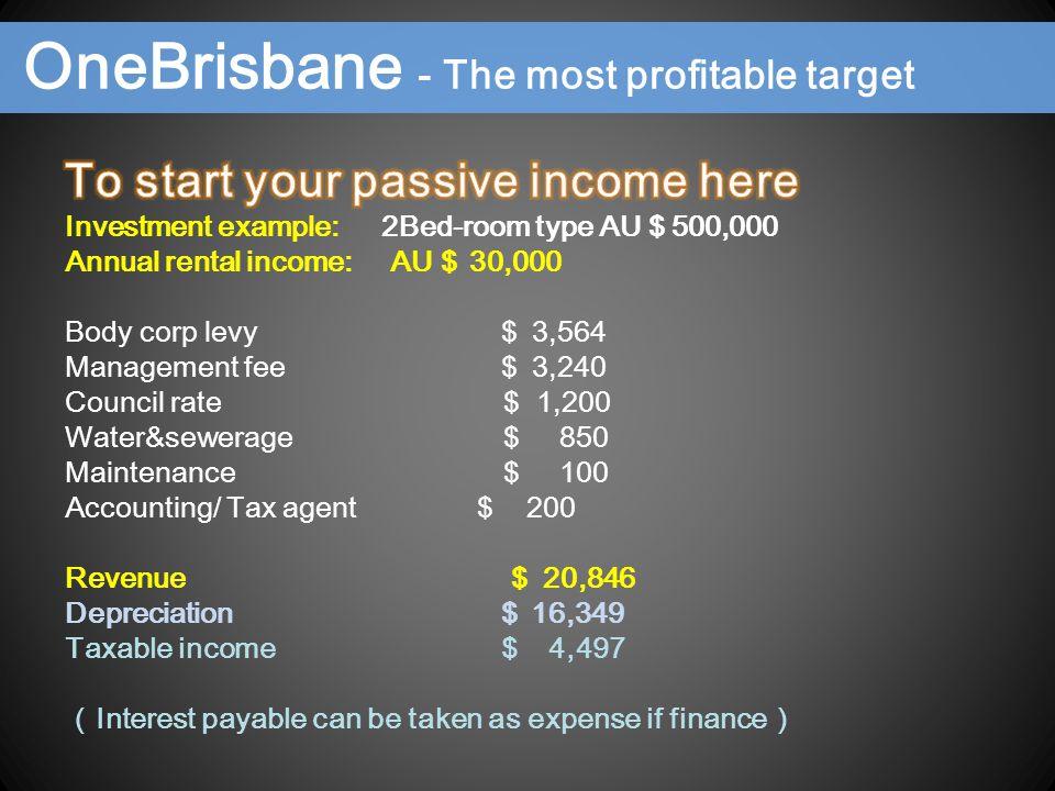 OneBrisbane - The most profitable target