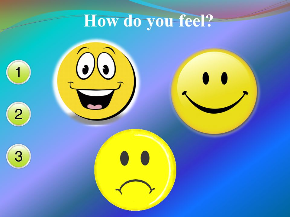 How do you feel