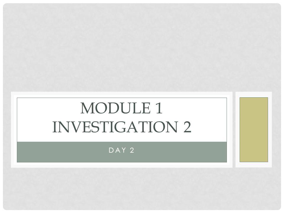 DAY 2 MODULE 1 INVESTIGATION 2